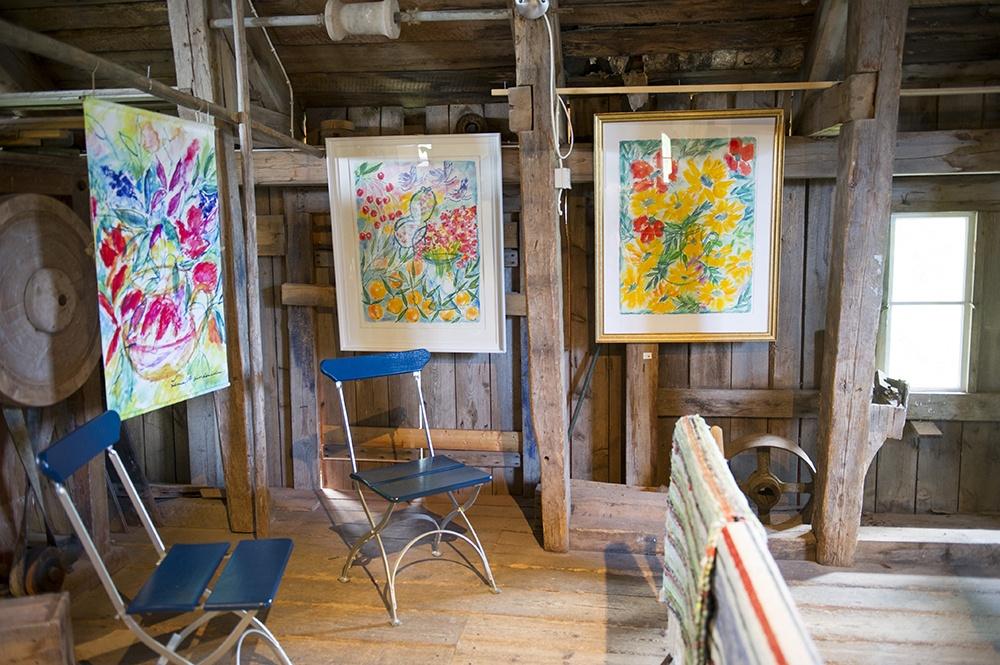 Grythytte Qwarn, café, butik och galleri på sommaren