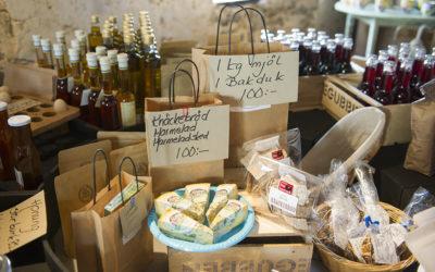 Mjöl och marmelad till försäljning