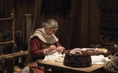 Kurs i att sy medeltidskläder på Herrgården i Grythyttan
