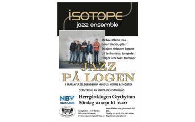 Jazz på logen 20/9